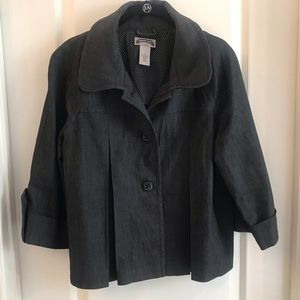 Dark Denim Swing Coat